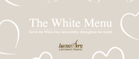 WHITE DAY DINNER MENU